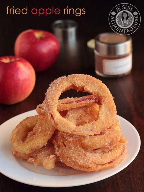 Fried Apple Rings by Alimentageuse #healthy #vegetarian #vegan # ...