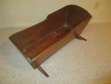 Antique Wooden Baby ROCKING CRADLE - Awesome