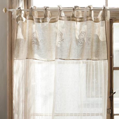 16 best Curtain Gardinen images on Pinterest Lace, Bathroom and - küche gardinen landhausstil