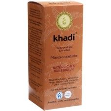 Khadi Растительная Орехово-коричневая краска для волос, 100 г