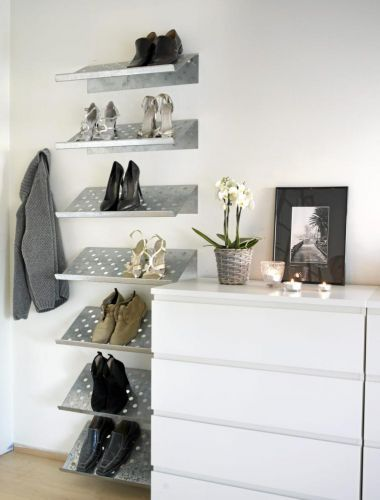Lots of shoe rack ideas