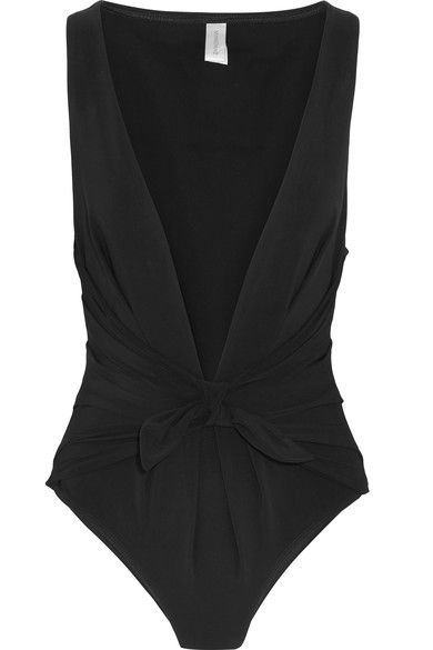 Zimmermann - Winsome Plunge-front Swimsuit - Black - 3