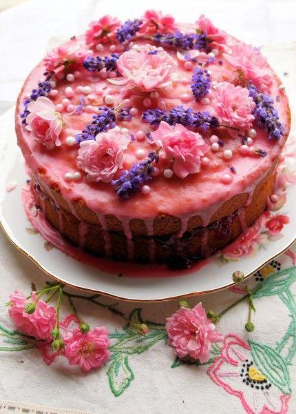 Vanilla, Strawberry & Rose Victoria Sponge Cake for Lavender and Lovage's 3rd Blog Birthday! http://www.lavenderandlovage.com/2012/06/vanilla-strawberry-rose-victoria-sponge-cake-for-lavender-and-lovages-1st-year-blog-birthday.html