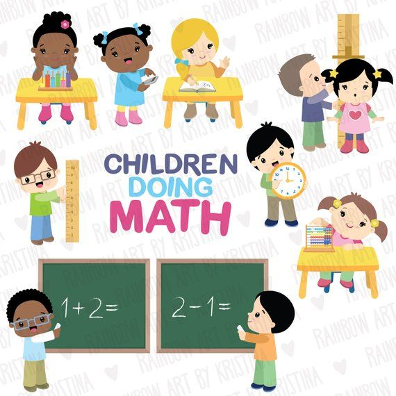 School Children Math Activities Clip Art Kids Studying Clipart