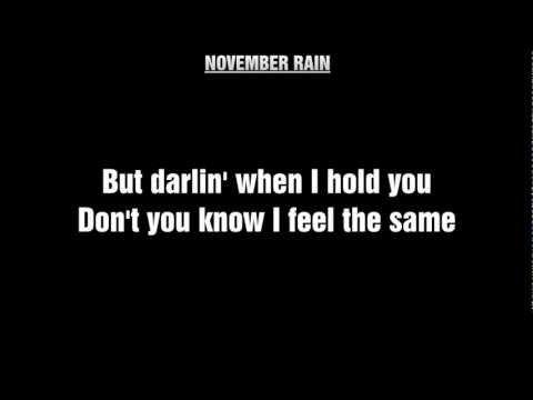 Guns N' Roses - November Rain [HQ] Lyrics - YouTube
