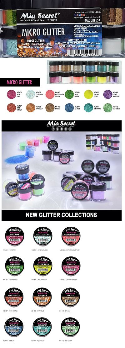 Acrylic Powders and Liquids: 12 Pc Mia Secret New Glitter Collection Acrylic Nail Powder Micro Glitter Made I -> BUY IT NOW ONLY: $34.99 on eBay!