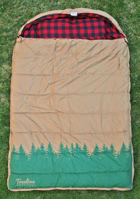 Brown bag. Sleeping bag for 2.