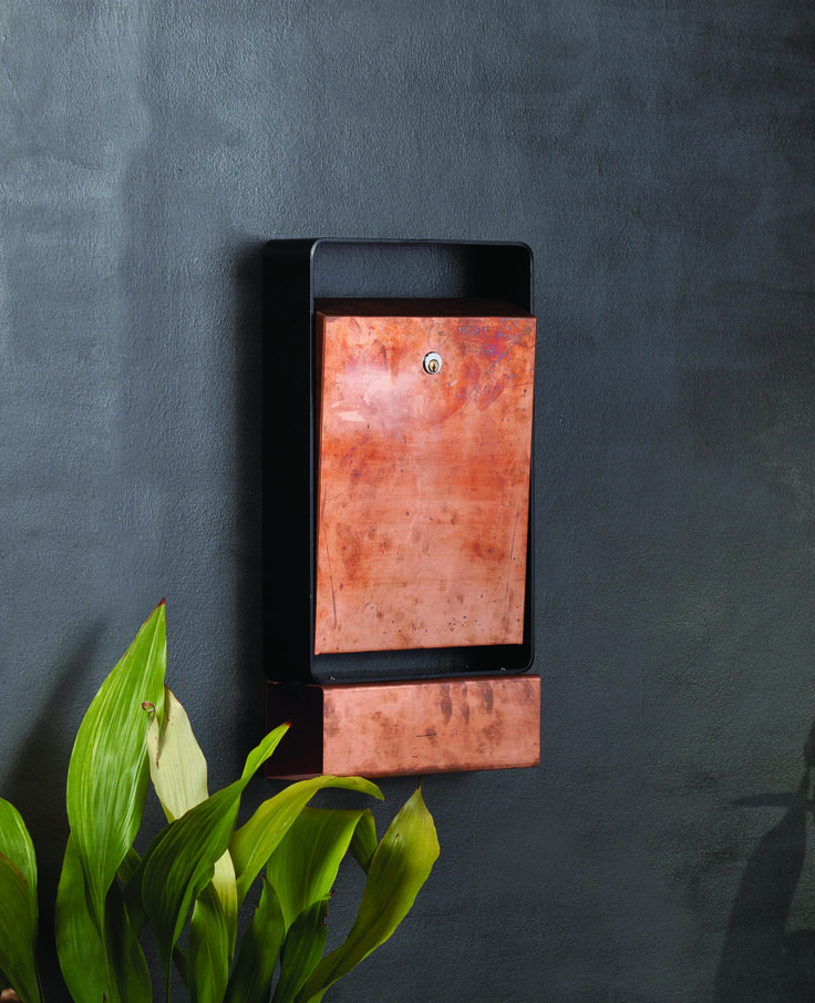 #Letterbox W/mounted Buzon Cruz Copper #postbox #mailbox
