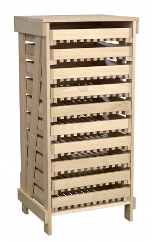 A Beech Apple Rack with ten drawers from Hibbitt