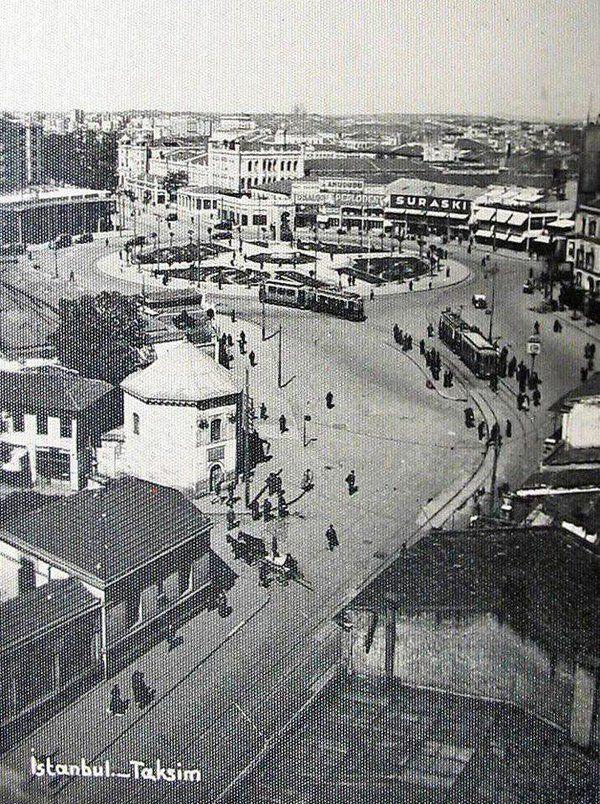 Taksim (1930'lar) #istanbul #eskiistanbul #nostalji #birzamanlar #taksimmeydan