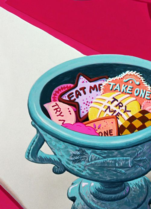 Sassy cookies. Great idea for Natania's Alice in Wonderland birthday party theme!
