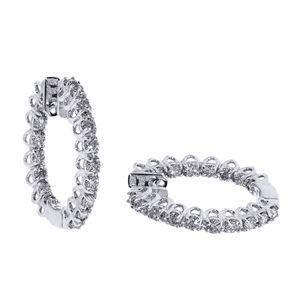 Diamantohrringe mit 2.00 Karat Diamanten aus 585er Gold