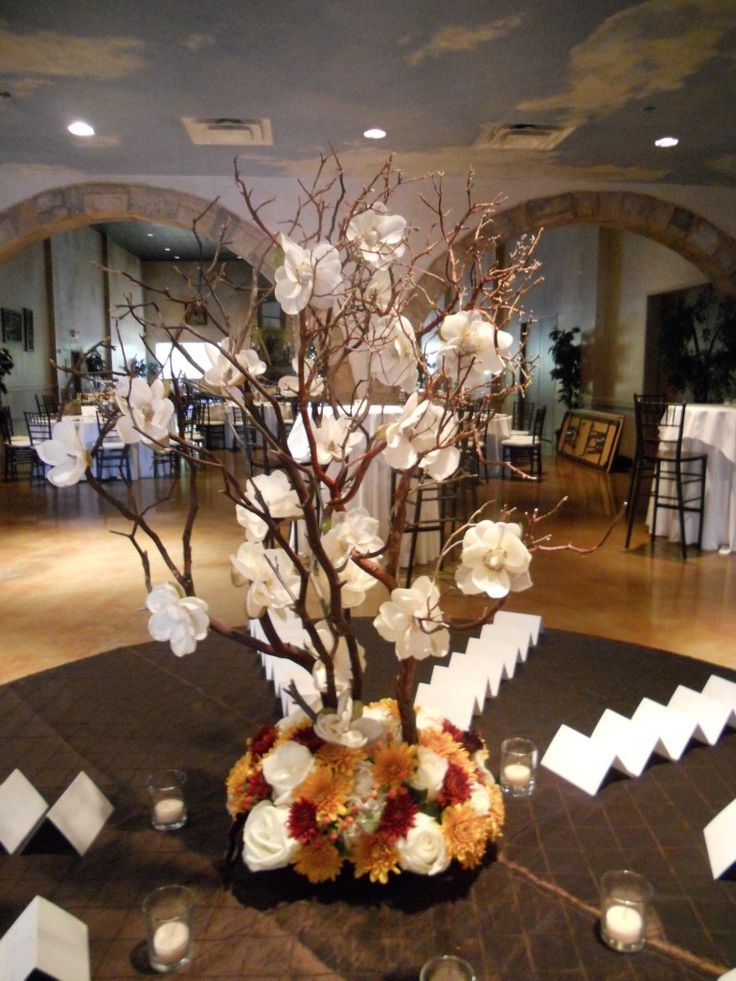Manzanita branch centerpiece
