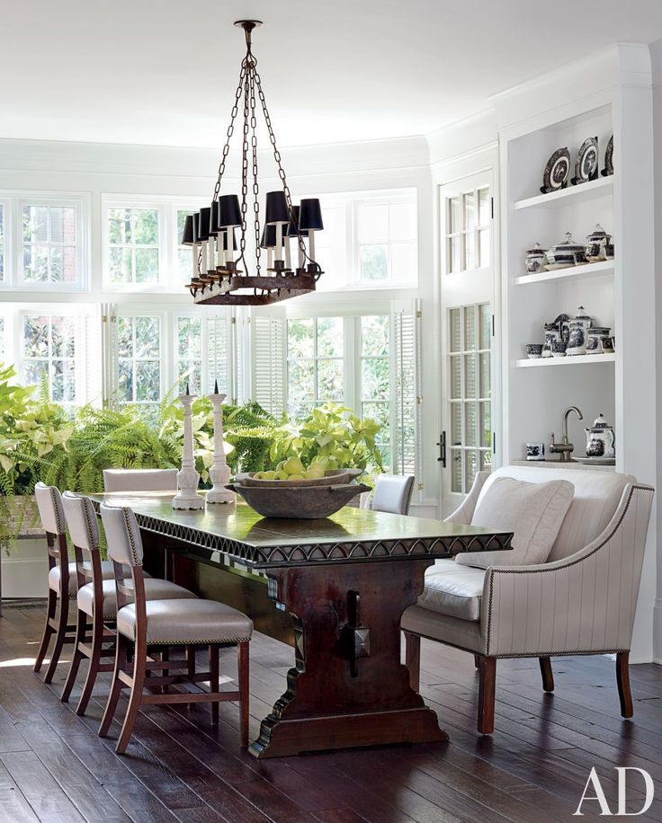Inspired dining rooms perfect for Thanksgiving entertaining: Dining Rooms, Interior, Dining Table, Dinning Room, Kitchen, Breakfast Room, Darryl Carter