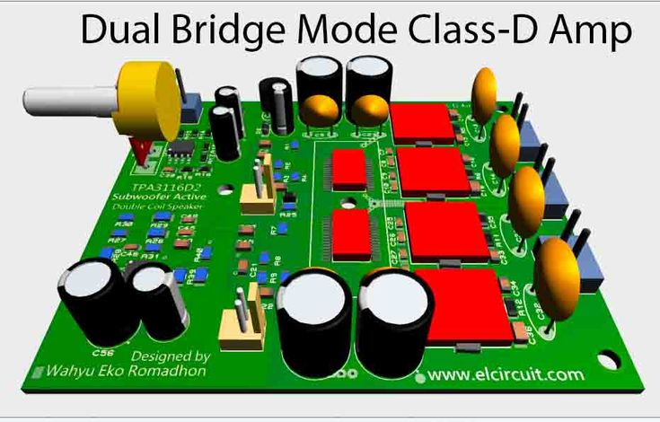 Subwoofer Power Amplifier Class-D Dual Bridge TPA3116D2 ...