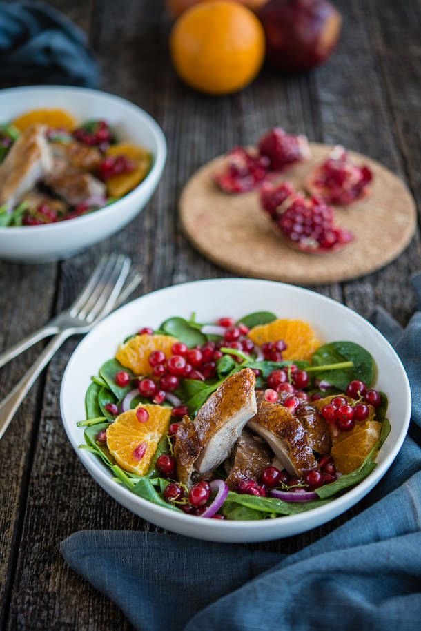 Duck, Orange and Pomegranate Salad (The Hungry Australian)