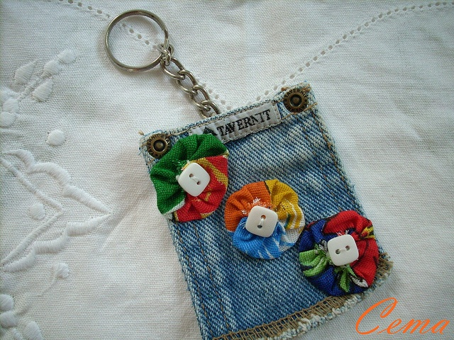jeans key chain by Cema