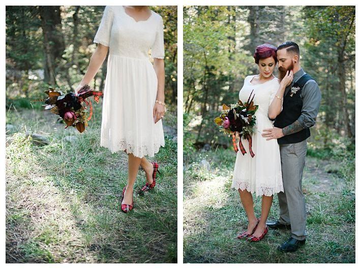 Alternative Bride In A Modest Wedding Dress The Dillinger