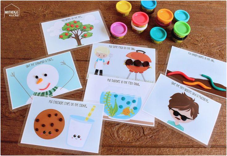 Play Dough Activity Mats Busy Bag: Free Printables!