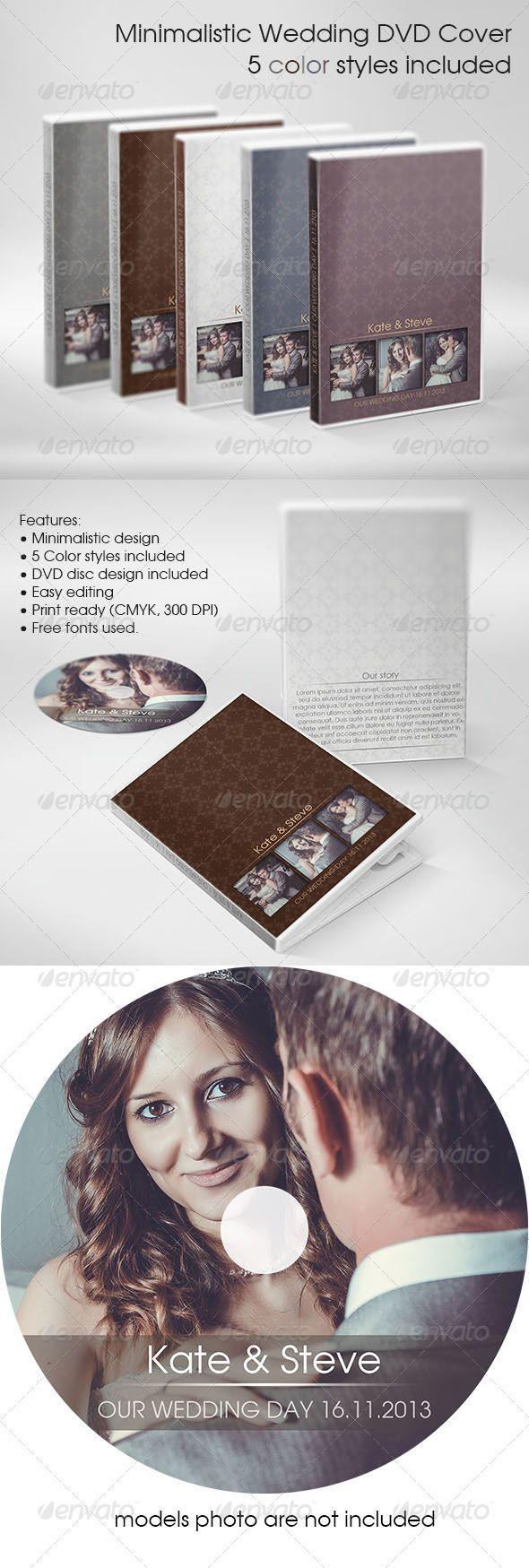 Minimalistic Wedding DVD Cover - CD & DVD Artwork Print Templates