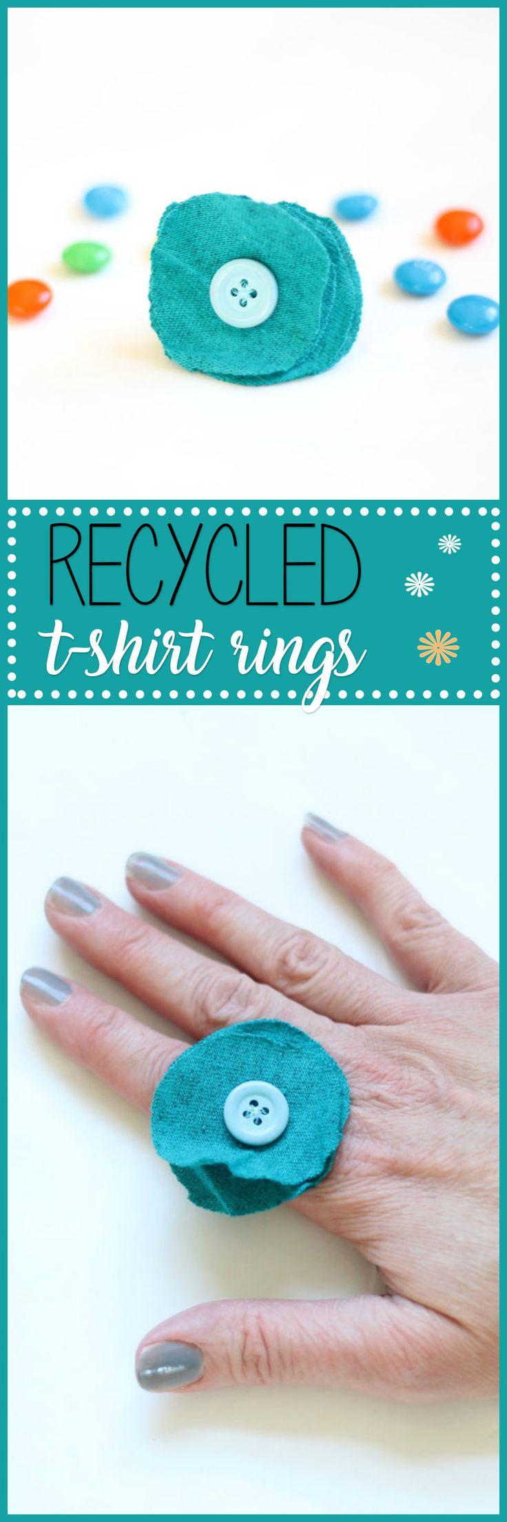 Design your own t-shirt craft - Flower T Shirt Rings