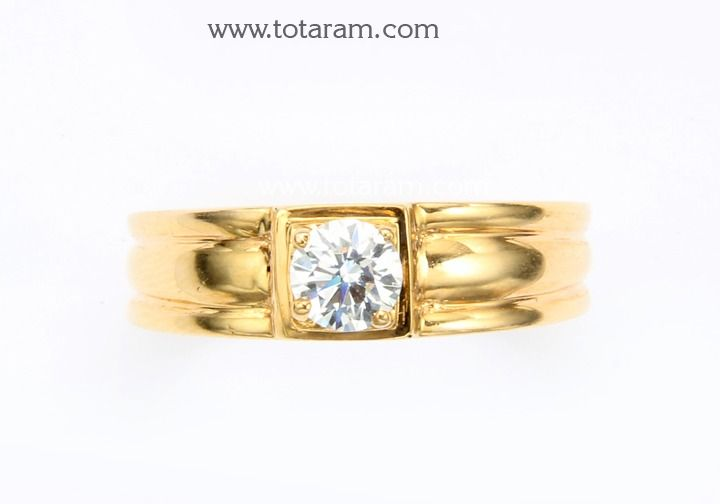 Check out the deal on Solitaire Mens Diamond Ring in 18K Gold at Totaram Jewelers: Buy Indian Gold jewelry & 18K Diamond jewelry
