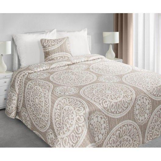 Bezove prehozy na manzelskou postel s ornamentem