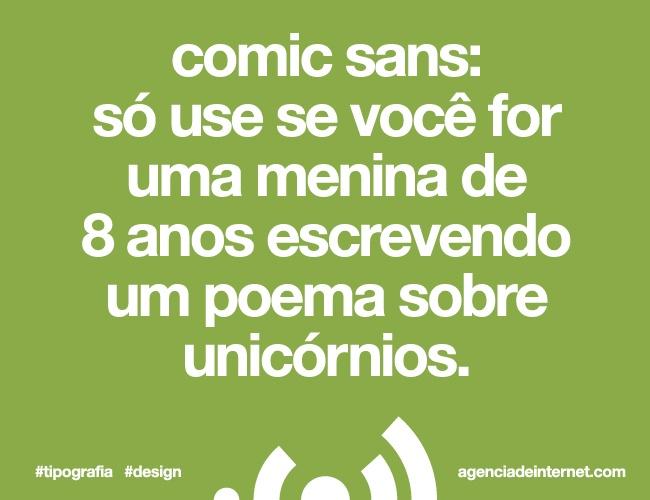 Comic Sans #tipografia