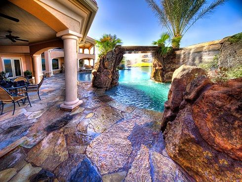 8 Best Stone Pool Decks Images On Pinterest Swimming