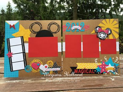 Megumi's Stampin Retreat: Swirly Bird Disney Scrapbook Pages