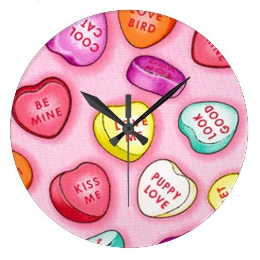 Pretty Clocks | Sweet Hearts Valentine Candy Clocks