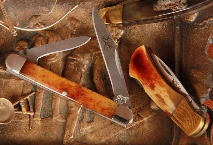 "As Colonel likes to ask, ""What would you give for your Granddaddy's pocket knife?"" Our Col. Littleton knives boast unique and unusual color strata and characteristics on the bone handles. They're hand-finished for that special look that can only be achieved by the hands of a craftsman, and made to be passed down from one generation to the next. http://www.colonellittleton.com/section/private-stock/pocket-knives/"