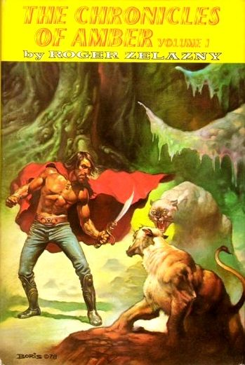 The Chronicles of Amber by Roger Zelazny / Book cover / 1978 (Boris Vallejo)
