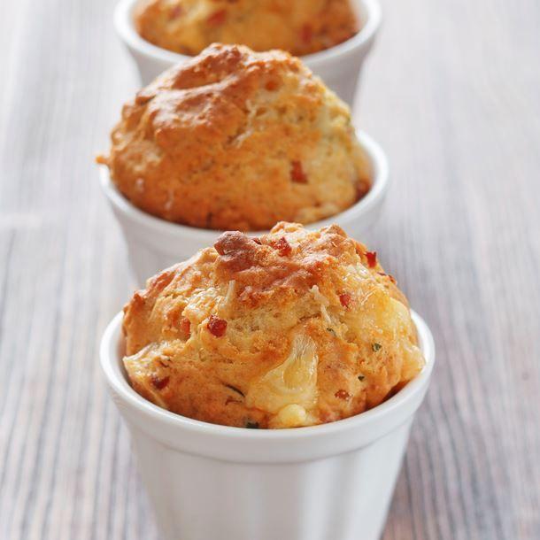 Muffin jambon-fromage au yaourt