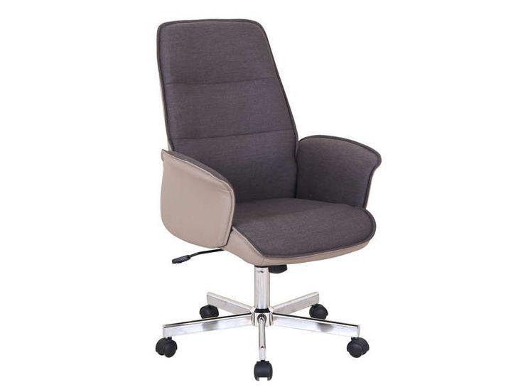 fauteuil de bureau ine s coloris marron pas cher cest sur
