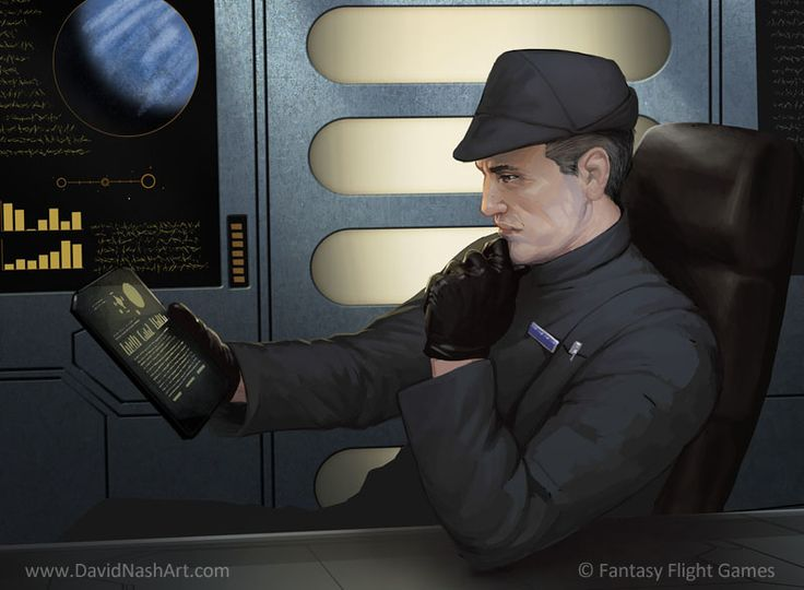 Imperial officer with tablet star wars ffg pinterest