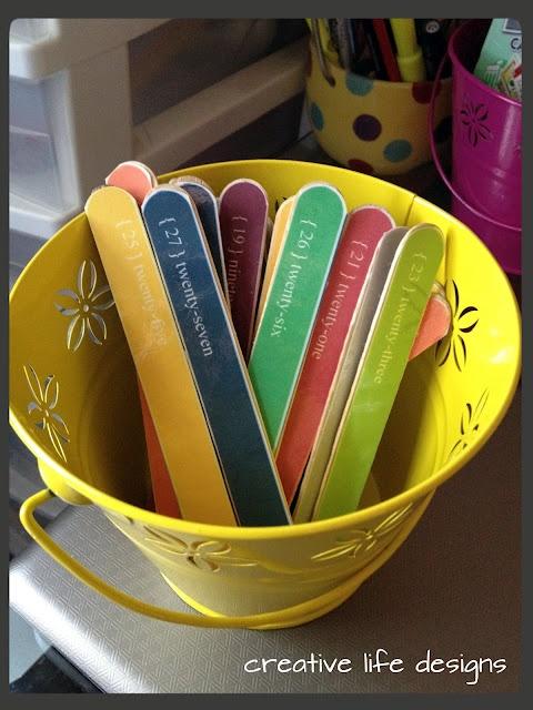 Fair Sticks for an elementary classroom.