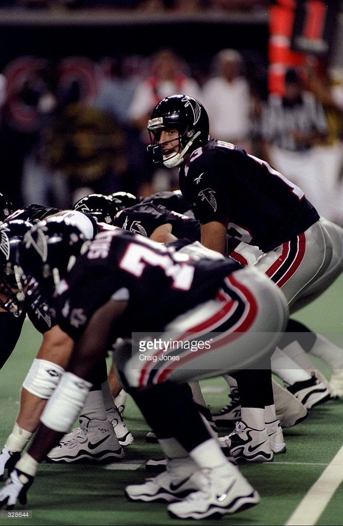 7 Aug 1998: Quarterback Tony Graziani #13 of the Atlanta Falcons prepares to take a snap during a pre-season game against the Tennessee Oilers at the Georgia Dome in Atlanta, Georgia. The Oilers defeated the Falcons 31-16. Mandatory Credit: Craig Jones