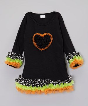 This flouncy piece will have little ladies styling in total comfort thanks to the super stretchy design. Covered in frilly ruffles and topped off with a heart, it's a petite princess's dream come true.