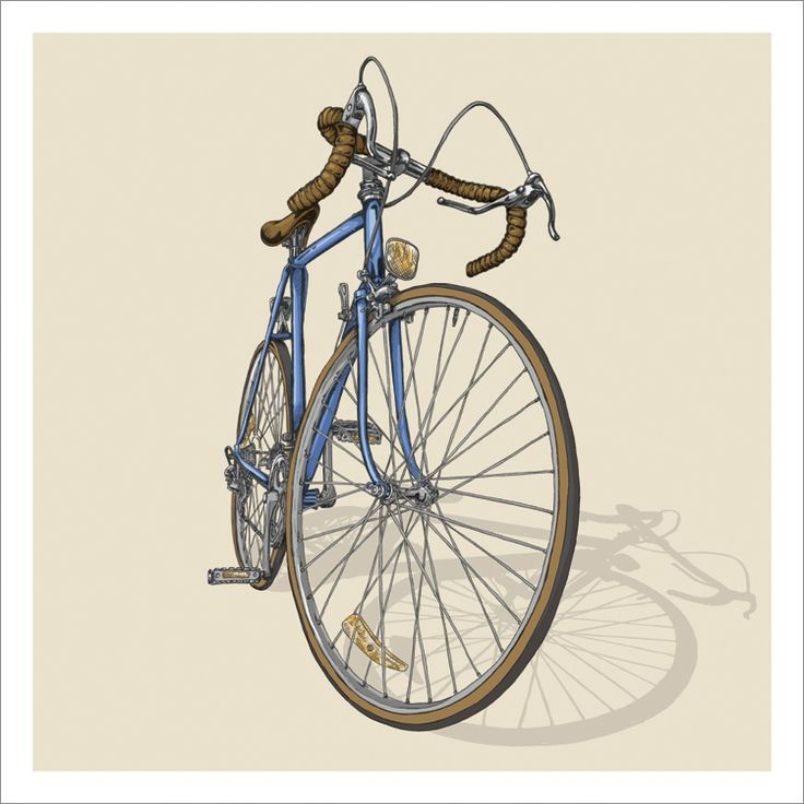 Bicycle illustration trilogy - 01 - Road Prints available at studioepitaphshop.tictail.com