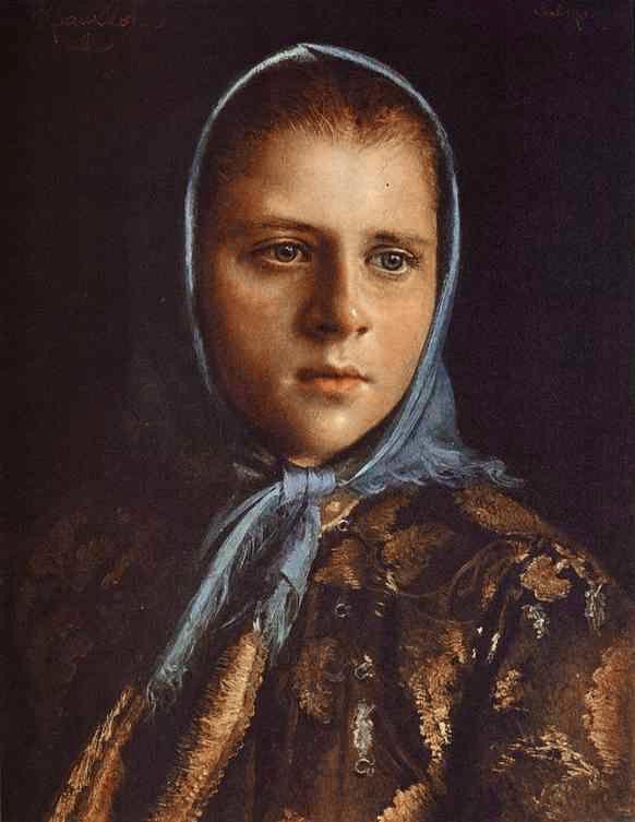 Ρωσίδα , κορίτσι , με μπλε σάλι.(1882)