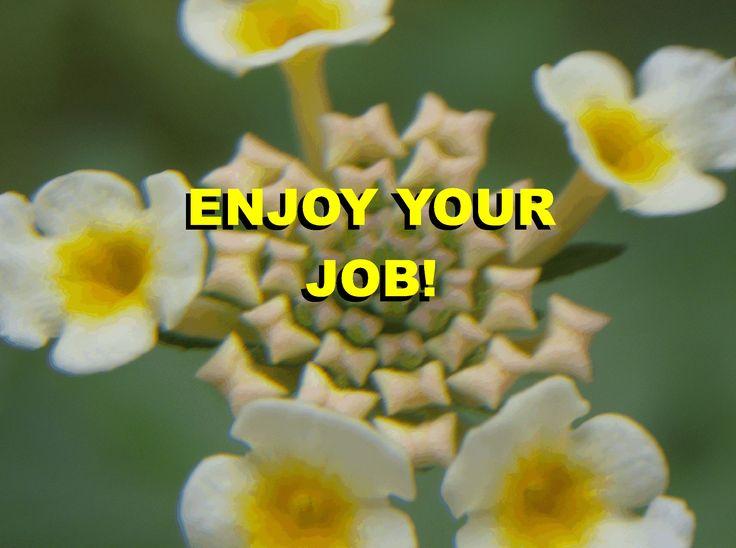 ENJOY YOUR JOB!
