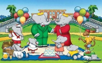 """Criada pelo escritor Jean de Brunhoff, e por sua esposa, Cecile de Brunhoff, """"As Aventuras de Babar"""", gira em torno de um elefante fictício (Babar), que parte da floresta onde mora para se aventurar na cidade grande."""