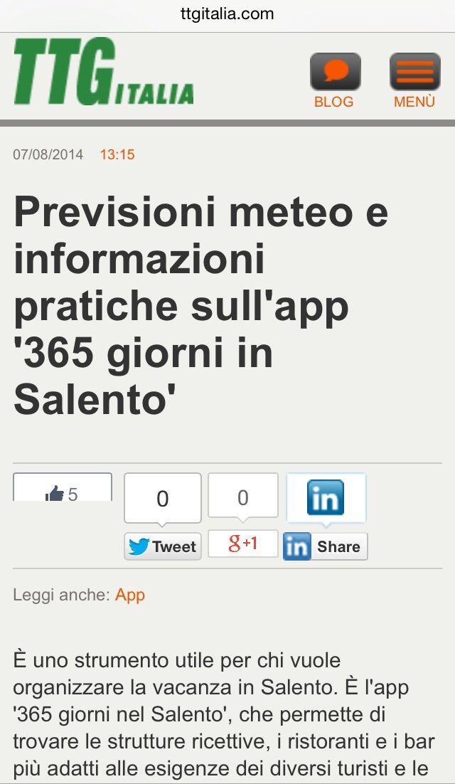 TTG Italia per 365 giorni nel Salento App