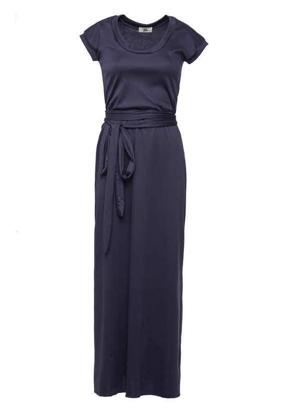 Hey, I found this really awesome Etsy listing at https://www.etsy.com/listing/115667769/navy-tshirt-dress-maxi-dress-long-navy