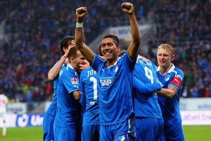 @Hoffenheim Roberto Firmino feierte mit allen team #9ine