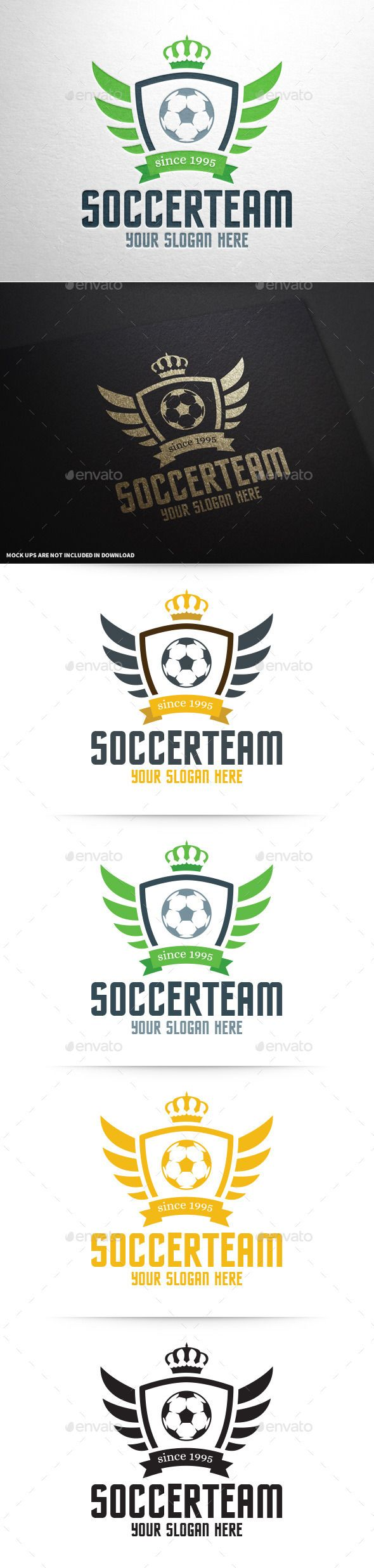 Soccer Team Logo Template — Vector EPS #club #sport • Available here → https://graphicriver.net/item/soccer-team-logo-template/9998123?ref=pxcr