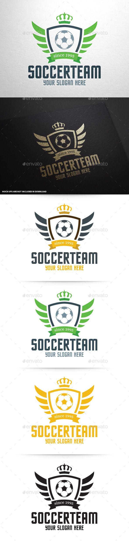 Soccer Team Logo Template #design Download: http://graphicriver.net/item/soccer-team-logo-template/9998123?ref=ksioks