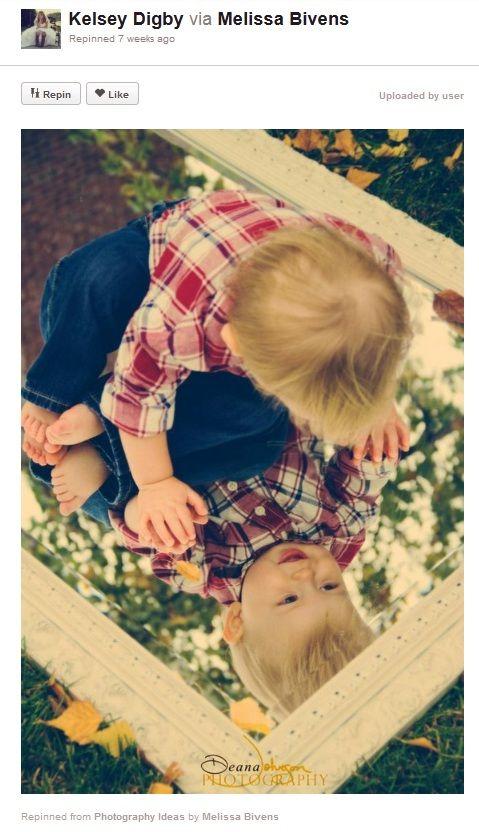 Baby photography ideas – Mirror Mirror on the wall - Photo(idea)Shop
