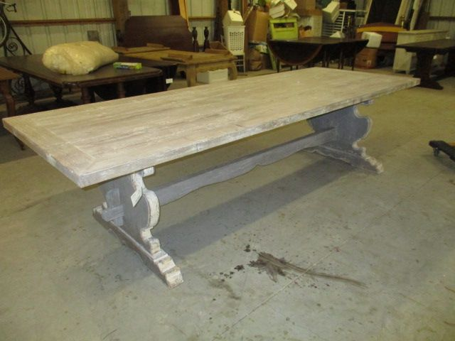 Buy antique french table, dining table, dining room table, oak dining table, pedestal table, white dining tables